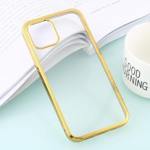 Voor iPhone 12 Ultra-dunne Plating TPU Protective Soft Case(Goud)