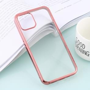 Voor iPhone 12 Ultra-dunne Plating TPU Protective Soft Case (Rose Gold)