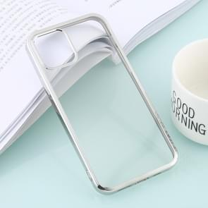 Voor iPhone 12 Ultra-dunne Plating TPU Protective Soft Case(Zilver)