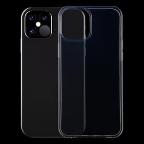 Voor iPhone 12 0 75 mm ultradunne transparante TPU-beschermhoes