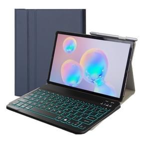 ST500 Voor Samsung Galaxy Tab A7 T500/T505 10 4 inch 2020 Ultradun draadloos Afneembaar Bluetooth-toetsenbord lederen hoes met stand & slaapfunctie & achtergrondverlichting(blauw)
