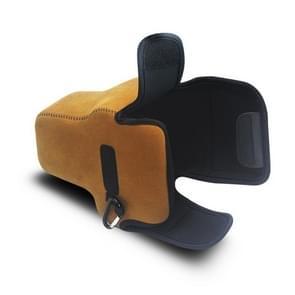 Voor Sony A7R4NEOpine Neoprene Soft Camera Binnenbeschermende Driehoek Tas met Karabijn  Kleur: Bruin