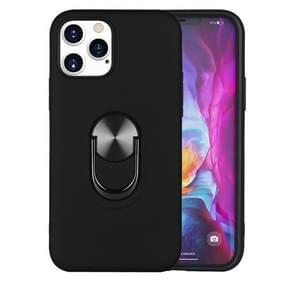 Voor iPhone 12 Pro / 12 Max 360 Roterende Multifunctionele Stent PC+TPU case met magnetische onzichtbare houder(zwart)