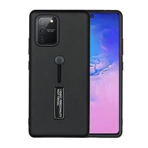 Voor Samsung Galaxy Note 20 Oil Feel Schokbestendige TPU + PC Beschermhoes met houder(Zwart)