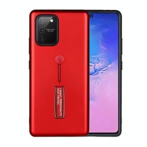Voor Samsung Galaxy Note 20 Oil Feel Schokbestendige TPU + PC Beschermhoes met houder(Rood)