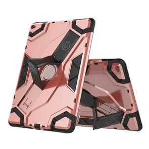 Voor iPad Air 2 / iPad 6 Escort Series TPU + PC Schokbestendige beschermhoes met houder(Rose Gold)