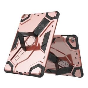 Voor iPad Air / iPad 5 Escort Series TPU + PC Schokbestendige beschermhoes met houder(Rose Gold)