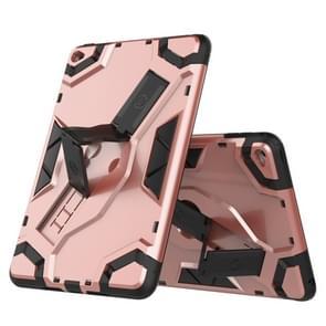 Voor iPad mini 4 Escort Series TPU + PC Shockproof beschermhoes met houder(Rose Gold)