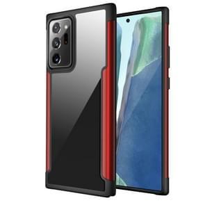 Voor Samsung Galaxy Note20 Ultra Iron Man Series Metal PC + TPU Beschermhoes(Rood)
