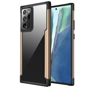 Voor Samsung Galaxy Note20 Ultra Iron Man Series Metal PC + TPU Beschermhoes(Goud)