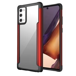 Voor Samsung Galaxy Note20 Iron Man Series Metal PC + TPU Beschermhoes (Rood)