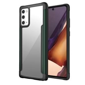 Voor Samsung Galaxy Note20 Iron Man Series Metal PC + TPU Beschermhoes(Groen)