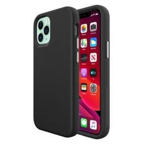 Voor iPhone 12 Triangle Armor Texture TPU + PC Case(Zwart)