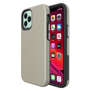Voor iPhone 12 Triangle Armor Texture TPU + PC Case(Goud)
