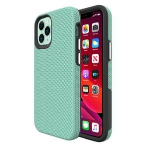 Voor iPhone 12 Triangle Armor Texture TPU + PC Case (Mint Green)
