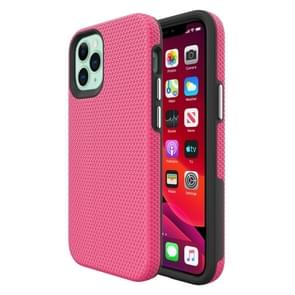 Voor iPhone 12 Triangle Armor Texture TPU + PC Case(Pink)