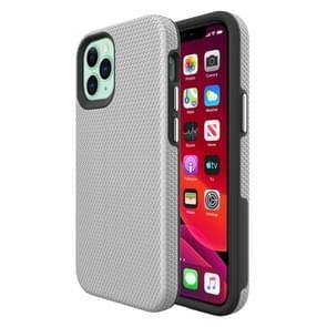 Voor iPhone 12 Triangle Armor Texture TPU + PC Case(Zilver)