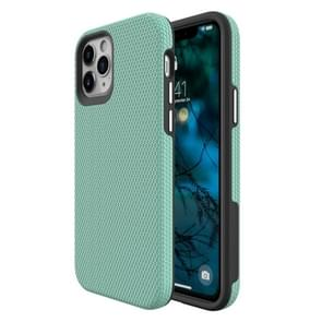 Voor iPhone 12 Max / 12 Pro Triangle Armor Texture TPU + PC Case(Mint Green)