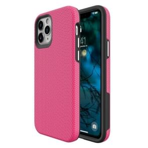 Voor iPhone 12 Max / 12 Pro Triangle Armor Texture TPU + PC Case(Pink)