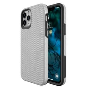 Voor iPhone 12 Max / 12 Pro Triangle Armor Texture TPU + PC Case(Zilver)
