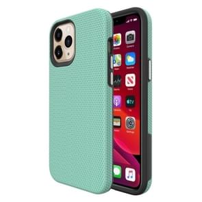 Voor iPhone 12 Pro Max Triangle Armor Texture TPU + PC Case (Mint Green)