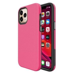 Voor iPhone 12 Pro Max Triangle Armor Texture TPU + PC Case(Pink)