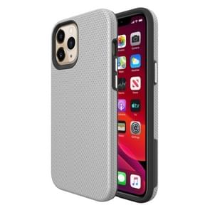 Voor iPhone 12 Pro Max Triangle Armor Texture TPU + PC Case(Zilver)