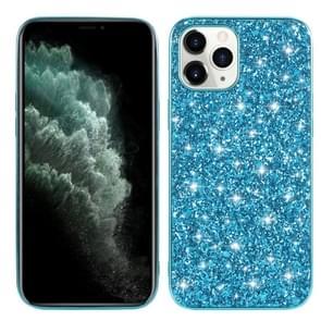 Voor iPhone 12 Glitter Powder Shockproof TPU Beschermhoes(Blauw)