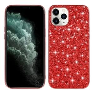 Voor iPhone 12 Glitter Powder Shockproof TPU Beschermhoes(Rood)