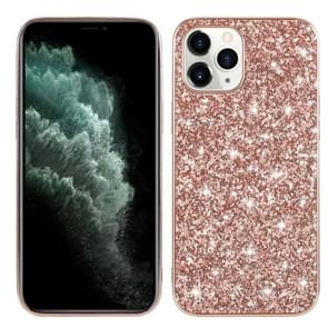 Voor iPhone 12 Glitter Powder Shockproof TPU Beschermhoes (Rose Gold)