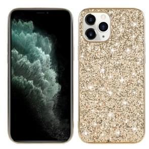 Voor iPhone 12 Pro Max Glitter Powder Shockproof TPU Beschermhoes(Goud)