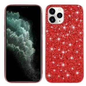 Voor iPhone 12 Pro Max Glitter Powder Shockproof TPU Beschermhoes(Rood)
