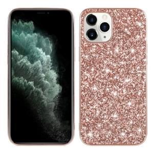 Voor iPhone 12 Pro Max Glitter Powder Shockproof TPU Beschermhoes (Rose Gold)
