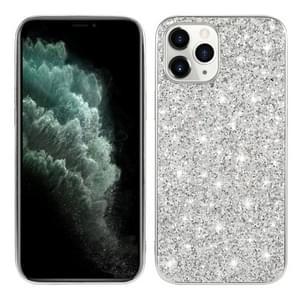 Voor iPhone 12 Pro Max Glitter Powder Shockproof TPU Beschermhoes (Zilver)