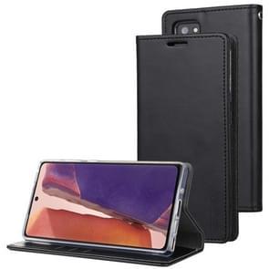 Voor Samsung Galaxy Note20 Ultra GOOSPERY BLUE MOON Flip Crazy Horse Texture Horizontale Flip Lederen case met bracket & card slot & wallet(zwart)