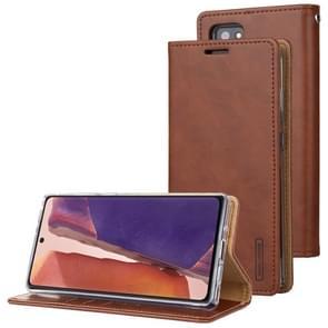 Voor Samsung Galaxy Note20 Ultra GOOSPERY BLUE MOON Flip Crazy Horse Texture Horizontale Flip Lederen case met bracket & card slot & wallet(bruin)