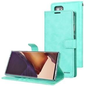 Voor Samsung Galaxy Note20 Ultra GOOSPERY BLUE MOON Crazy Horse Texture Horizontale Flip Lederen case met bracket & card slot & wallet (Mint Green)