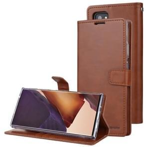 Voor Samsung Galaxy Note20 Ultra GOOSPERY BLUE MOON Crazy Horse Texture Horizontale Flip Lederen case met bracket & card slot & wallet(bruin)