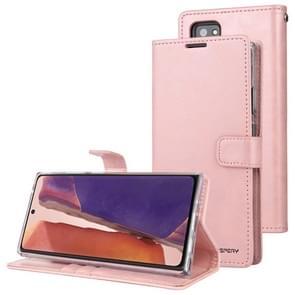 Voor Samsung Galaxy Note20 Ultra GOOSPERY BLUE MOON Crazy Horse Texture Horizontale Flip Lederen case met bracket & card slot & wallet(pink)