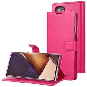 Voor Samsung Galaxy Note20 Ultra GOOSPERY BLUE MOON Crazy Horse Texture Horizontale Flip Lederen case met bracket & card slot & wallet(Rose Red)