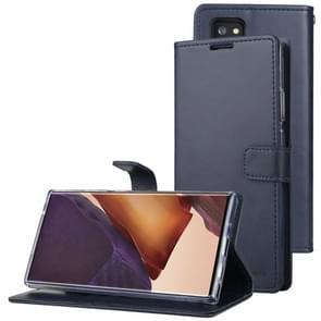 Voor Samsung Galaxy Note20 Ultra GOOSPERY BLUE MOON Crazy Horse Texture Horizontale Flip Lederen case met bracket & card slot & wallet(Navy Blue)