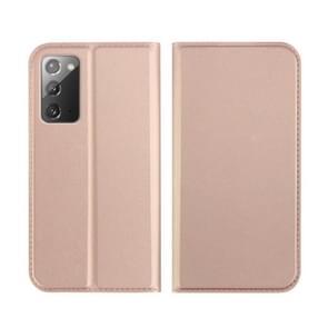 Voor Samsung Galaxy Note 20 DZGOGO ISKIN-serie Slight Frosted PU + TPU Case(Rose Gold)