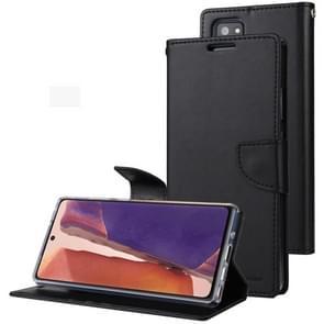 Voor Samsung Galaxy Note20 GOOSPERY Bravo Diary Crazy Horse Texture Horizontale Flip Lederen case met bracket & card slot & wallet(zwart)
