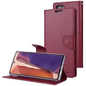 Voor Samsung Galaxy Note20 Ultra GOOSPERY Bravo Diary Crazy Horse Texture Horizontale Flip Lederen case met bracket & card slot & wallet (Wine Red)