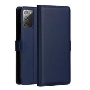Voor Samsung Galaxy Note 20 DZGOGO MILO Series PC + PU Horizontale Flip Lederen Case met Holder & Card Slot & Wallet(Blauw)