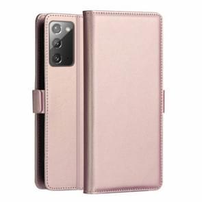 Voor Samsung Galaxy Note 20 DZGOGO MILO Series PC + PU Horizontale Flip Lederen Case met Holder & Card Slot & Wallet(Rose Gold)