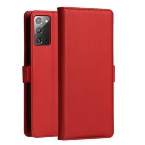 Voor Samsung Galaxy Note 20 DZGOGO MILO Series PC + PU Horizontale Flip Lederen case met Holder & Card Slot & Wallet(Red)
