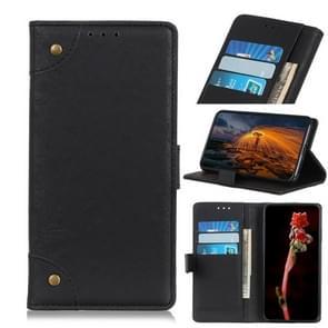 Voor Huawei Enjoy 20 Copper Buckle Retro Crazy Horse Texture Horizontale Flip Lederen Case met Holder & Card Slots & Wallet(Zwart)