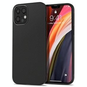 Voor iPhone 12 Pro Max lenuo Leshen Series Stripe Texture TPU Case(Zwart)