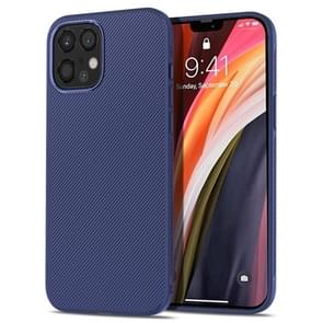 Voor iPhone 12 Pro Max lenuo Leshen Series Stripe Texture TPU Case (Donkerblauw)